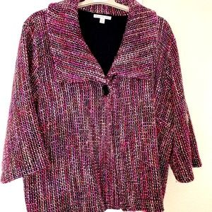 JM Collection - Pink Blazer (acrylic/wool blend)